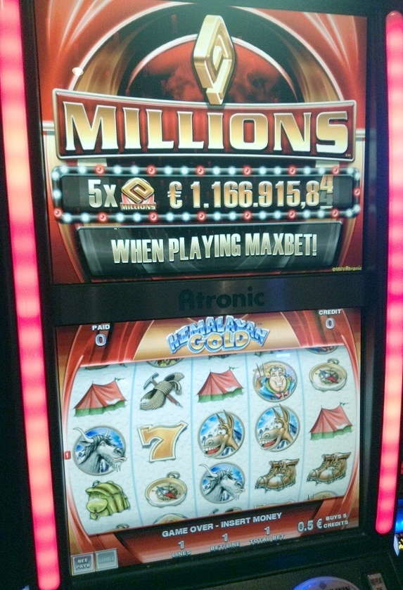 De mega millions gokkast van het Holland Casino